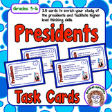 FREE Presidents Task Cards: 20 cards with fun facts and ch