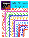 {FREE} Rainbow Doodle Borders {Creative Clips Digital Clipart}