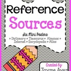 FREE Reference Sources: Six Mini Posters
