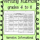 FREE - Rubrics: Kid Friendly Language (upper elem/middle)