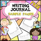 FREE Sample of Writing Journal Pages