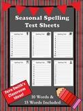 FREE Seasonal Spelling Test Printables