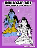 FREE Shiva clip art - India clip art set sneak-a-peek