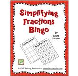 Simplifying Fractions Bingo (FREE)