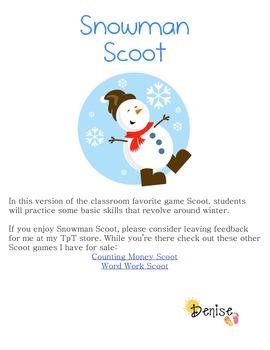 FREE Snowman Scoot