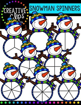FREE Snowman Spinners {Creative Clips Digital Clipart}