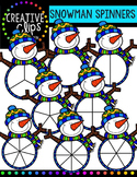 Snowman Spinners {Creative Clips Digital Clipart}