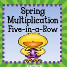 FREE Spring Multiplication Five-in-a-Row!