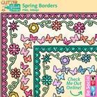 FREE Spring Paper Borders / Frames Clip Art - Glitter Meet
