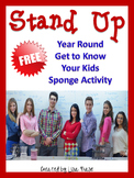 FREE Stand Up Get to Know Your Students Sponge Activity