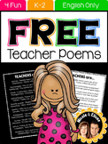 FREE Teacher Appreciation Poem for Followers