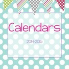 FREE 2014-2015 Teacher's Monthly Calendar - Light Blue Polka Dot