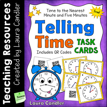 FREE Telling Time Task Cards