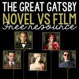 FREE: The Great Gatsby Novel vs. Film Analysis Using Manil