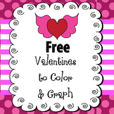 FREE Valentines to Color for K-2 and a Roll and Graph Activity