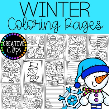 FREE Winter Coloring Book {Made by Creative Clips Clipart}