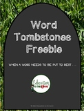 FREE Word Tombstones: Burials for Overused Words [Educatio