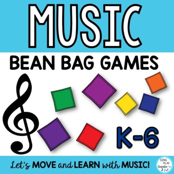 FREEBIE BEAN BAG GAMES for the MUSIC CLASSROOM *Review &