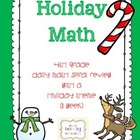 *Limited Time FREEBIE!* Daily Math Spiral Review - Holiday Theme
