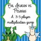 FREEBIE Evil Dragon vs Pegasus Multiplication Fact Buddy G