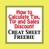 FREEBIE - How to Calculate Tax, Tip and Sales Discount - C
