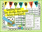 FREEBIE /K/, /NG/ & /KW/ Sound Sort with Notes