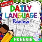FREEBIE Sample of Daily Language Practice - Grammar Review