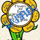 FREEBIE Sampler Flowers and Bugs Spinning for Math First G