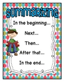 FREEBIE:  Summarizing Poster with Student Sheet