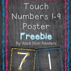 {FREEBIE} Touch Numbers Posters ~Chalkboard Style~