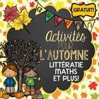 FRENCH Fall Activities FREEBIE - Activités pour l'automne