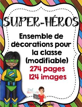 FRENCH/Classroom decor pack/Les Super-Héros (ensemble complet)