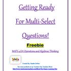 4th Grade FSA Multi-Select Questions (Operations and Algeb