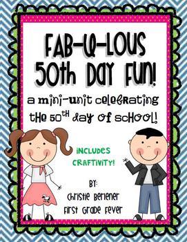 Fab-u-lous 50th Day Fun! {mini-unit & craftivity}