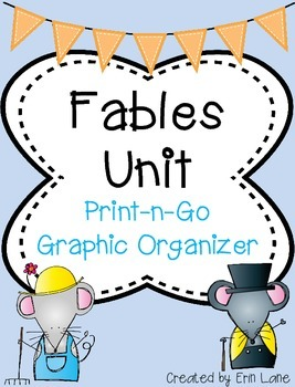 Fables: Fable Graphic Organizer