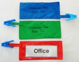 Fabric Hallway Passes with Sturdy Pinch-Type Clip