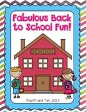Fabulous Back to School Fun