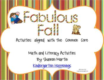 Fabulous Fall {Math and Literacy Activities aligned with t