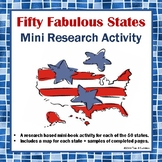 Fabulous Fifty States Mini-Booklet Research Activity Common Core