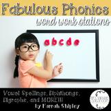 Fabulous Phonics--Word Work Stations
