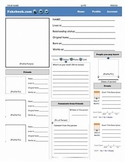 Facebook Character Page -- Versatile Activity for any Character