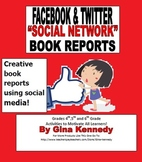 Facebook & Twitter Social Media Book Report Templates, Cre