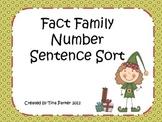 Fact Family Number Sentence Sort