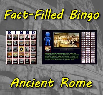Fact-Filled Bingo - Ancient Rome