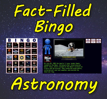 Fact-Filled Bingo - Astronomy
