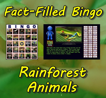 Fact-Filled Bingo - Rainforest Animals