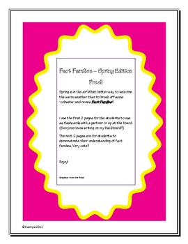 Fact families - Free spring edition!