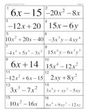 Factoring Polynomials MatchingMania