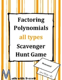 Factoring Polynomials Scavenger Hunt Game