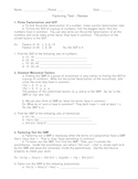 Factoring Test Review - GCF, Trinomials, Polynomials